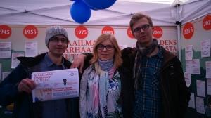 YK-nuorten teltalla Maailma Kylässä -festareilla